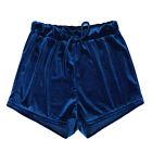 Women Crushed Velvet Hot Pants High Waist Running Fitness Bottoms Shorts Trouser
