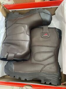 Rock Fall RF70 Texas brown waterproof Rigger safety boots size 6
