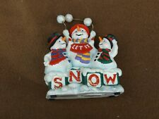 Snow Man Music Box Plays Let It Snow Music Box Company San Francisco