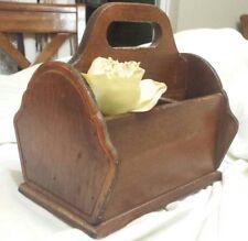 Utensil Silverware Caddy Wood Vtg Napkin Holder antique primitive farmhouse mail
