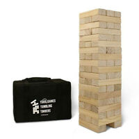YardGames Giant Tumbling Timbers Wood Stacking Game with 56 Natural Pine Blocks