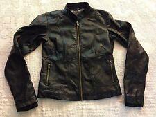 Women's George Black Polyester Motorcycle Biker Jacket (XS)0-2