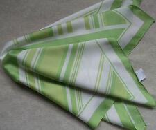 Vintage Handkerchief MENS Hankie Top Pocket Square GREEN STRIPED