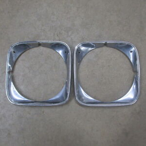 71 CHEVROLET CHEVELLE MALIBU EL CAMINO SS454 ORIGINAL GM HEADLIGHT BEZEL SET