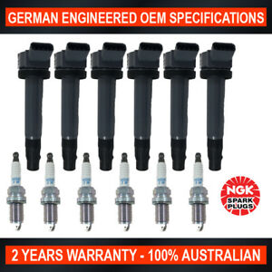 6x NGK Spark Plugs & Swan Ignition Coil for Lexus RX330 RX400h for Toyota Kluger