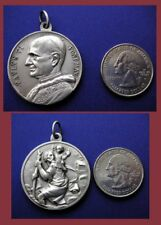 Medal of Pope Paul the Sixth and St. Christopher Carrying Christ