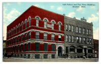 Early 1900s Odd Fellows and Free Press Building, Mankato, MN Postcard