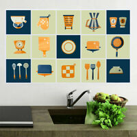 PVC Waterproof Wall Stickers OilProof Heat-resistant Kitchen  Removable Natural