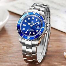 U.K. Blue Reginald Quartz Stainless Steel Sports Divers Watch