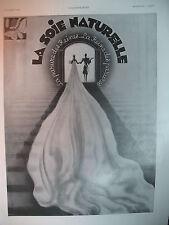 PUBLICITE DE PRESSE SOIE NATURELLE ILLUSTRATION PHILI AD VINTAGE 1930