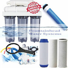 Reverse Osmosis Water Filter Clear Housings Core System 100 GPD Made in the USA