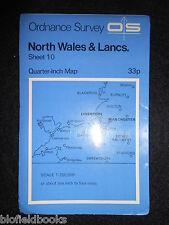 Vintage Ordnance Survey Map - North Wales & Lancashire - 1973 - Quarter Inch