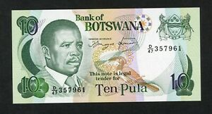 BOTSWANA 10  PULA ( 1992 )   PICK # 12 UNC.