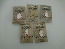 More details for moomin pin badge x 5 - bundle of five official moomintroll character badges new