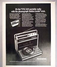 "Panasonic ""Swing-Way"" PRINT AD - 1969 ~ FM/AM Portable Radio w/Hidden Phonograph"