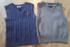 Chaps George Navy Gray Sweater Vest Boys School Uniform Formal Size 7
