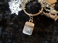 Lost 5 pounds! 5lb Sugar Weight Loss Charm for Weight Watchers Keychain!