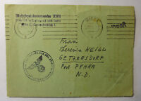 1943 GERMAN OCC. COVER SENT VIENNA -PRAGUE WITH GERMAN CACHET