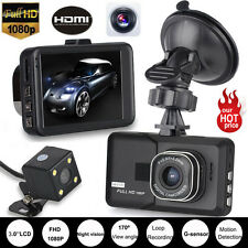 Dual Lens Camera HD 1080P Car DVR Vehicle Video Recorder Rear Dash Cam G-sensor