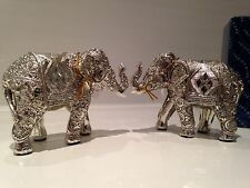 Shudehill Silver Spirit Diamond Mirror Elephants Ornament Gift Figurines