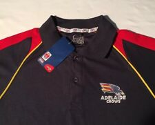 AFL Official Adelaide Crows Mens Polo Blue S