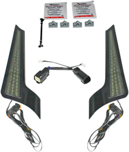 Custom Dynamics Black LED Fascia Panel Lights 14-20 Harley Touring FLHX FLHRXS