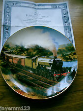 FRANKLIN MINT PLATE TRAIN FLYING SCOTSMAN NICHOLAS TRUDGIAN DOULTON PERFECT
