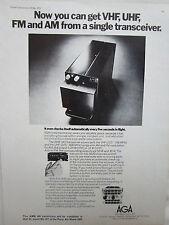 5/1975 PUB AGA AEROTRONICS LIDINGO SWEDEN VHF UHF FM AM TRANSCEIVER ORIGINAL AD