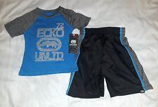 Boys Toddler ECKO 2pc Shirt Short Set 4t Black Blue Gray