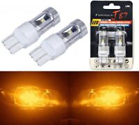 LED Light 30W 7443 Amber Orange Two Bulbs Front Turn Signal Replacement OE Fit