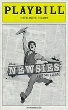 Disney Newsies Playbill June 2012 Jeremy Jordan Kara Lindsay Ben Frankhauser