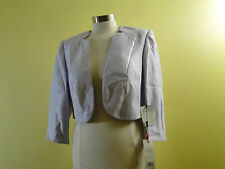 Jacques Vert Notched Hems Silk Trim Jacket T1D3000 /Lilac /10US /12K.
