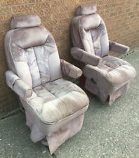 1995 Ford Econoline Quality Coaches Cloth Reclining Front Seats Captain Chairs