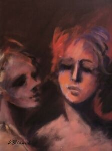 Bianchini, Original Modern Oil Painting on Canvas Female Portraits Figures Faces