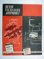 RENAULT 16 - Revue Technique Automobile N° 237 - Janvier 1966
