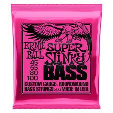 Ernie Ball 2834 Super Slinky Bass Nickel Wound 4-String Bass Strings (.045-.100)