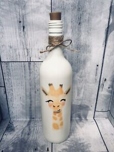 Giraffe Led Wine Bottle Night Light Up Childs Lamp Baby Shower Nursery Gift