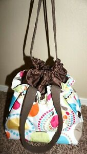 Thirty One 31 Cinch It Up Thermal Lunch Tote Circle Spiral Dots