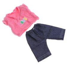 Puppen Kleidung Pullover Jeans Hose Strick Set für 40 cm Puppen 20663