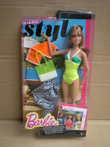 Barbie Style Resort Deluxe Holiday Fun Summer Swimsuit Doll 2014 Mattel