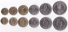 NEW HEBRIDES - RARE 6 DIF COINS SET: 1 - 50 FRANCS 1972-77 YEARS