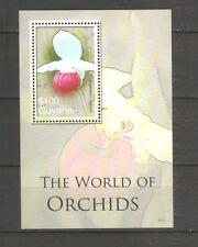 Blumen Orchideen Guyana Block 812 postfrisch