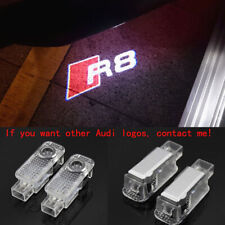 2x Laser LED Logo Door Lamp Puddle Courtesy Projector Shadow Light For AUDI R8 -
