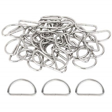 150 Pieces Metal D Rings Non-Welded Hardware Bags Ring for Sewing Keychains