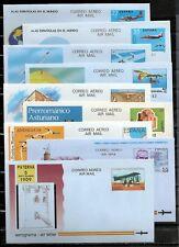 ESPAÑA 14 AEROGRAMAS NUEVOS S/F ENTRE EL Nº 201 Y 224