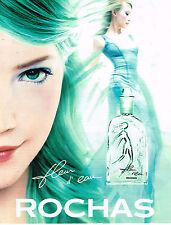 PUBLICITE ADVERTISING 025  1997  ROCHAS  parfum eau de toilette FLEUR D'EAU