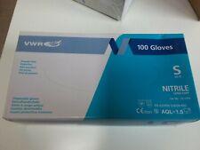 Gloves Nitrile Non Powders Size S 6- Vwr Blue Box of 100 Gloves