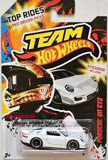 HOT WHEELS TEAM 2012 TOP RIDES PORSCHE 911 GT2 WHITE W+