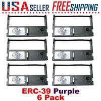 6 Pack - EPSON ERC-39, ERC-39P, ER-350II, Purple Ribbons Ink Cartridge ER-350II