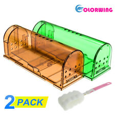 Humane Mouse Trap 2 PK Live Catch and Release Smart No Killing Reusable Mice Rat